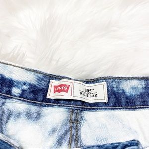 Levi's Shorts - Levi's 505 Denim Cut Off Jean Short Bleach Destroy
